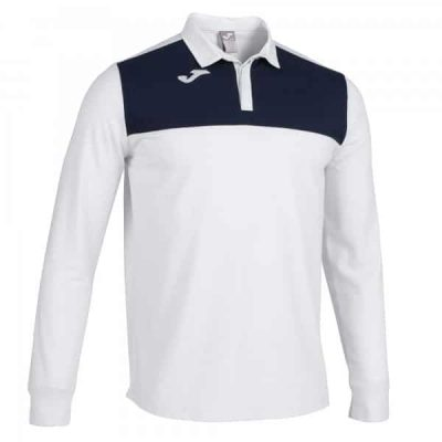 Joma POLO SHIRT WINNER II L/S WHITE-NAVY
