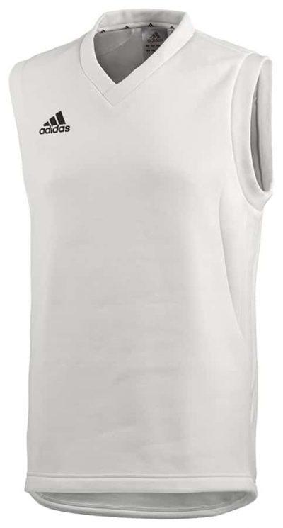 Adidas Sleeveless Cricket Sweater White