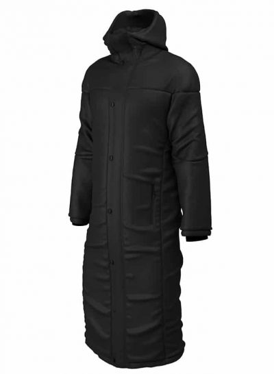 CONTOURED THERMAL COAT Black