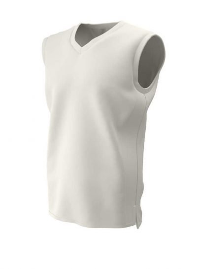 PREMIUM SLEEVELESS CRICKET SLIPOVER Ivory