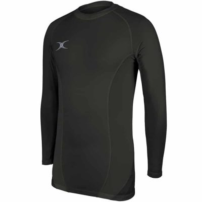 Gilbert Rugby ATOMIC X BASELAYER TOP Black