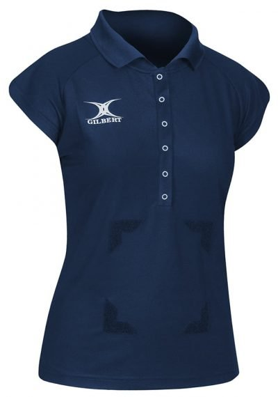 Gilbert Netball Blaze Polo Shirt Navy