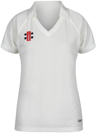 Gray Nicolls SHIRT MATRIX Ladies Short Sleeve Ivory