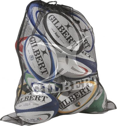 Gilbert Rugby Fine Mesh Ball Bag Black