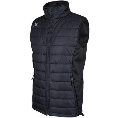 Gilbert Rugby PRO BODYWARMER JACKET Black