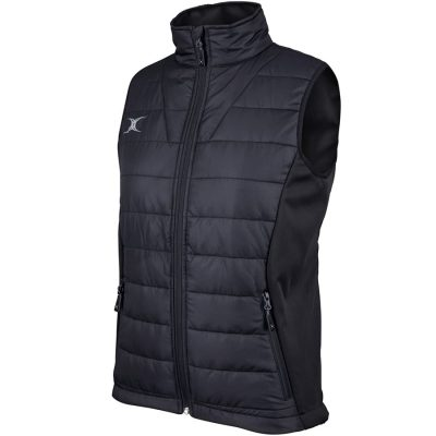 Gilbert Rugby PRO BODYWARMER JACKET WOMENS Black