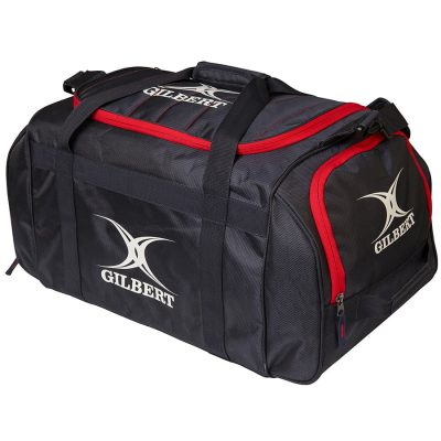 Gilbert Rugby Performance Holdall Bag Black/Red