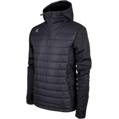 Gilbert Rugby PRO ACTIVE QUARTER ZIP JACKET Black