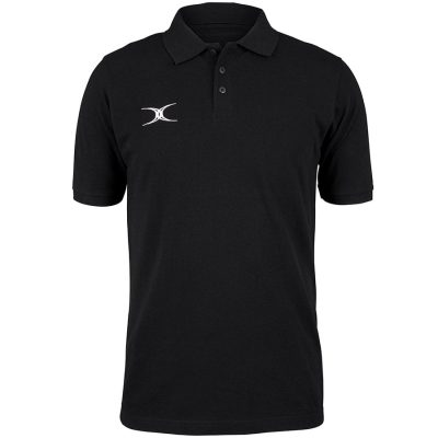 Gilbert Rugby QUEST POLO Black