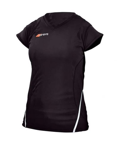 Grays Hockey SHIRT G650 LADIES Black/White