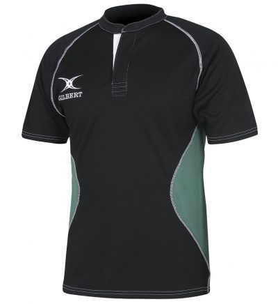 Gilbert Rugby SHIRT XACT V2 Black/Green