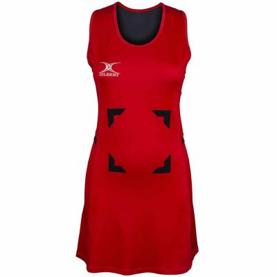 Gilbert Netball SYNERGIE DRESS Red/Black