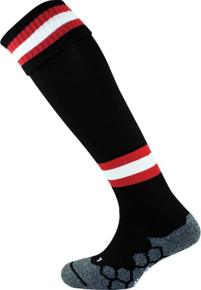 Mitre DIVISION TECH SOCK BLACK/SCARLET/WHITE