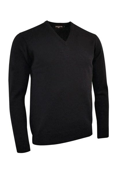 g.Lomond lambswool v-neck sweater (MKL5900VN-LOM) - Black - Glenmuir