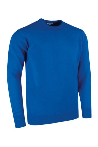 g.Morar lambswool crew neck sweater (MKL5902CN-MOR) - Ascot Blue - Glenmuir