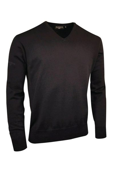g.Eden cotton v-neck sweater (MKC6884VN-EDEN) - Black - Glenmuir