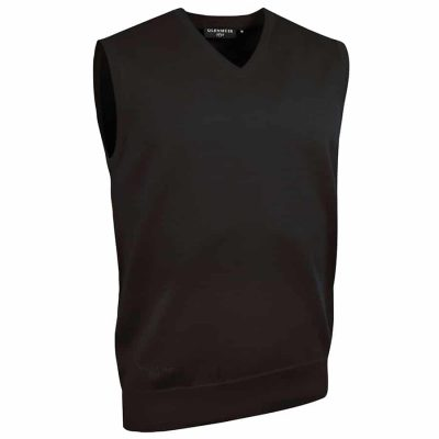 g.Thornton cotton v-neck slipover (MKC7079SO-THO) - Black - Glenmuir