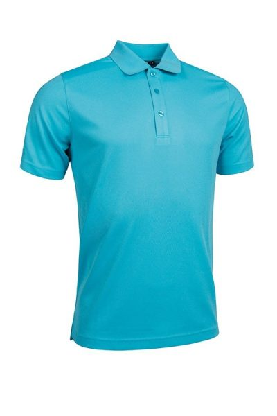 g.Deacon performance piqu plain polo shirt (MSP7373-DEAC) - Aqua - Glenmuir