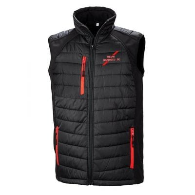 Result Black Compass Padded Gilet CS